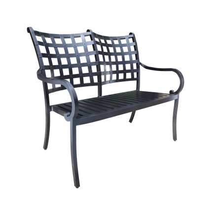 Estate Aluminum Deep Seating Bench-0