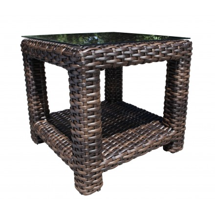 Elegant Louvre Wicker Deep Seating Side Table 0 Pictures - Simple Elegant resin wicker side table For Your Plan