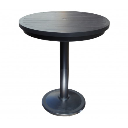 Monaco Aluminum Deep Seating Inch Round Pedestal Bar Table - 56 inch round table