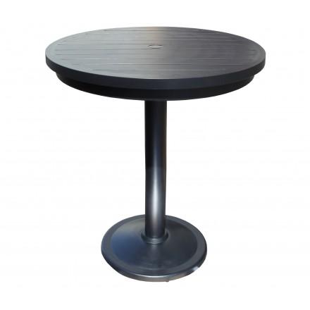 Monaco Aluminum Deep Seating 30 inch Round Pedestal Bar Table-0