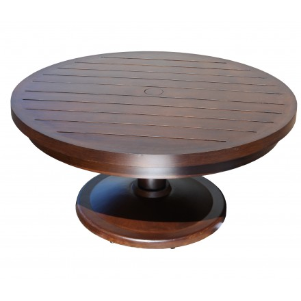 Monaco Aluminum Deep Seating 30 Inch Round Pedestal Coffee Table