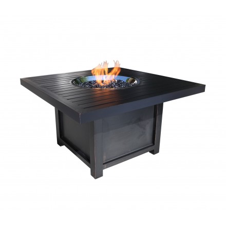 Monaco Aluminum Deep Seating 42 inch Square Firepit-0