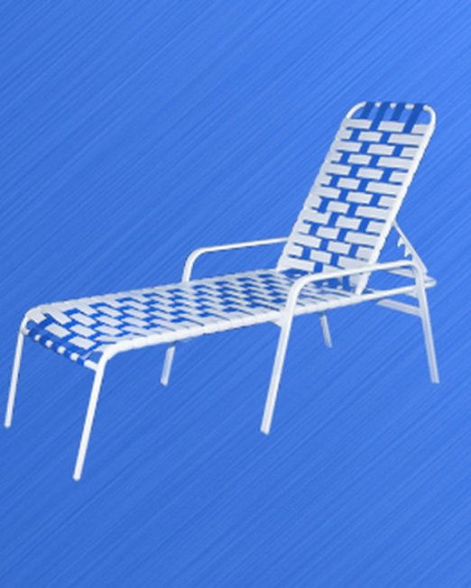3317 Classic Cross Strapped Chaise Lounge-0