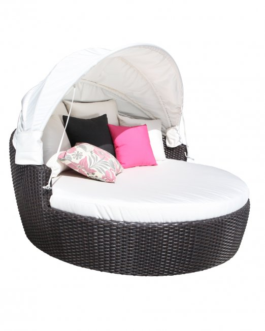 Louvre Wicker Deep Seating Daybed -0