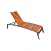 Seaside 3-Inch Strap Aluminum Chaise Lounge