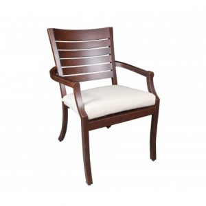 Mission Aluminum Deep Seating Dining ArmChair
