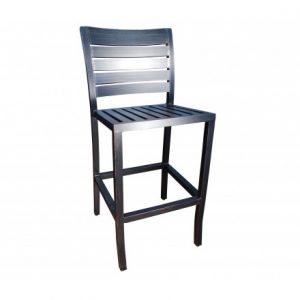 Mission Aluminum Deep Seating Swivel Bar Stool