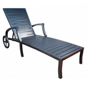 Mission Aluminum Deep Seating Chaise Lounge