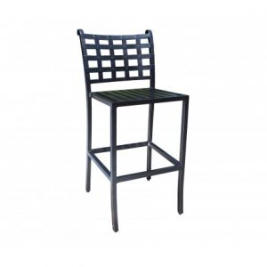 Estate Aluminum Deep Seating Bar Stool