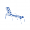 3317 Classic Cross Strapped Chaise Lounge