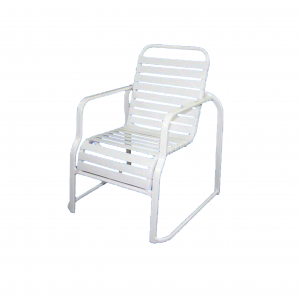 Rio Sled Base Horizontal Strap Chair