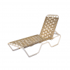 4300 Classic Cross Strapped Chaise Lounge