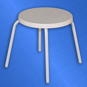 Fiberglass 18 inch Side Table