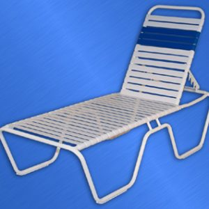 Classic Strap Chaise Lounge 14""