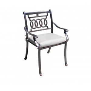 Verona Aluminum Deep Seating Dining Chair