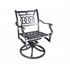 Verona Aluminum Deep Seating Swivel Dining Chair