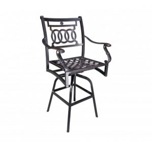 Verona Aluminum Deep Seating Swivel Bar Stool