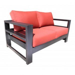 Aura Aluminum Deep Seating Love Seat Chair