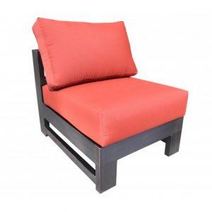 Aura Aluminum Deep Seating Slipper Chair