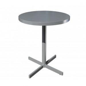 Milano Aluminum Deep Setaing 24 inch Round Pedestal Table