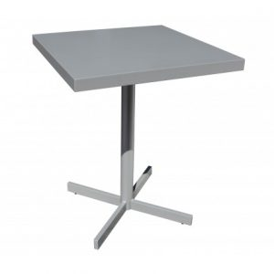 Milano Aluminum Deep Setaing 24 inch Square Pedestal Table