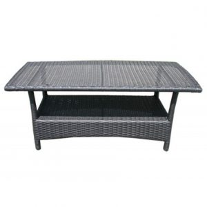 Luna Wicker Deep Seating Rectangle Coffee Table