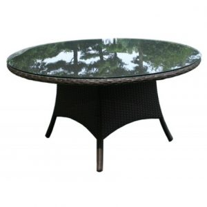 Solano Wicker Deep Seating Conversation Table