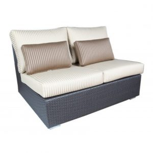 Chelsea Modular Wicker Deep Seating (Straight Loveseat)