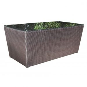 Chelsea Wicker Deep Seating Rectangle Coffee Table