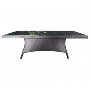 Solano Wicker Deep Seating 84x42 inch Dining Table