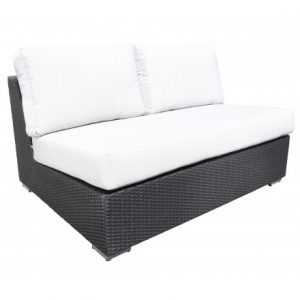 Chorus Modular Wicker Deep Seating Loveseat