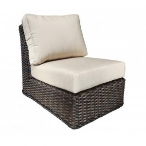 Nevada Modular Wicker Deep Seating -Straight Slipper