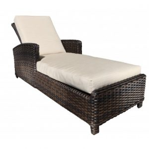 Nevada Wicker Deep Seating Chaise Lounge