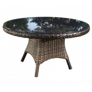 Nevada Wicker Deep Seating 84 inch Dining Table