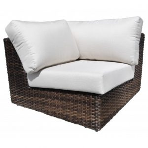 Louvre Modular Wicker Deep Seating Wedge Corner Module