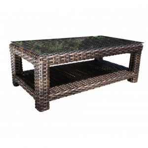 Louvre Wicker Deep Seating Rectangle Coffee Table