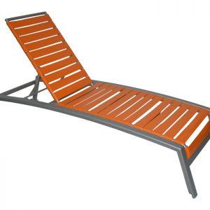 "3"" Strap Aluminum Chaise Lounge"