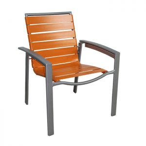 Seaside 3-Inch Strap Aluminum Dining Chair