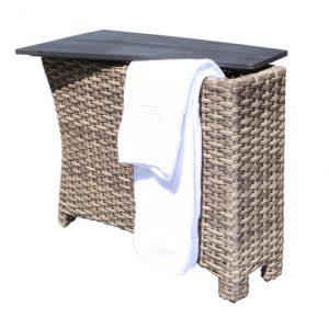 Riverside Storage Wedge Table