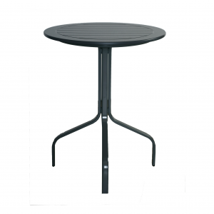 "Marine Grade Polymer 30"" Round Bar Table W/ Aluminum Base"