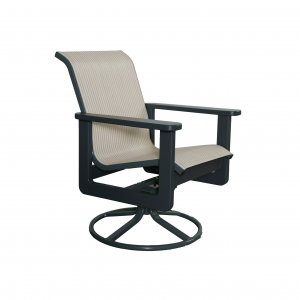 Marine Grade Polymer Swivel Dining Chair