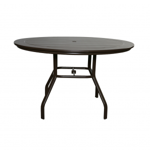 "Marine Grade Polymer 42"" Round Dining Table W/ Aluminum Base"