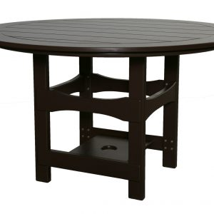 Square Base Round Table
