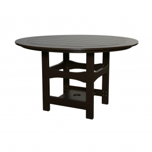 Marine Grade Polymer Square Base Round Table