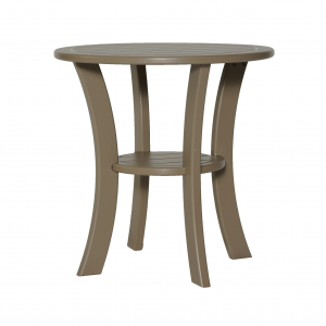 Marine Grade Polymer Double Tier Round Side Table
