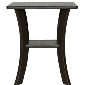 Double Tier Square Side Table