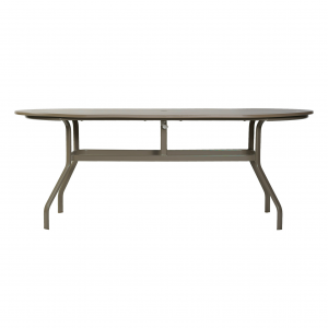 "Marine Grade Polymer 30"" x 60"" Oval Dining Table W/ Aluminum Base"