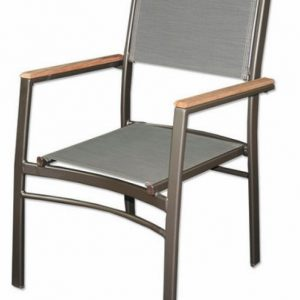 Dining Chair with Teak Arms