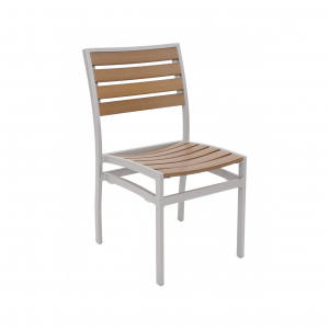 Faux Teak Outdoor Dining Chair