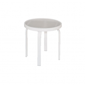 "18"" Flat Tube Side Table with Acrylic Top"